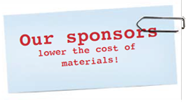 Our sponsors lower the coast of materials